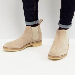 Grenson's Hayden Beige Suede Chelsea Boots